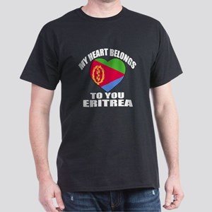 My Heart Belongs To You Eritrea Count Dark T-Shirt