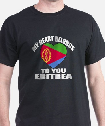 My Heart Belongs To You Eritrea Count T-Shirt
