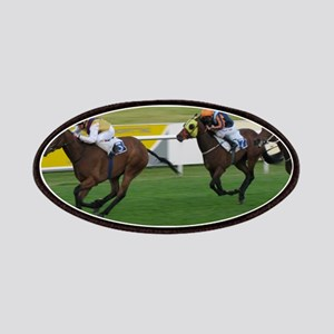 horse racing - racing photogaph Patch