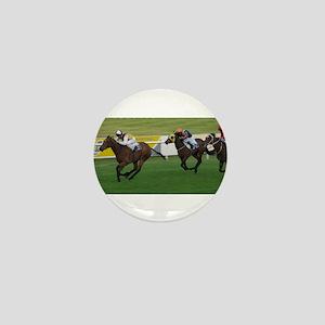 horse racing - racing photogaph Mini Button
