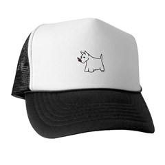 Scottish Terrier Drawing Trucker Hat