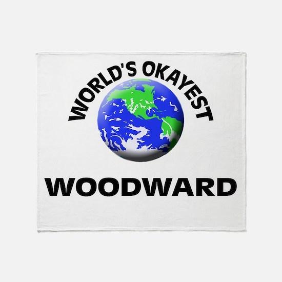 World's Okayest Woodward Throw Blanket