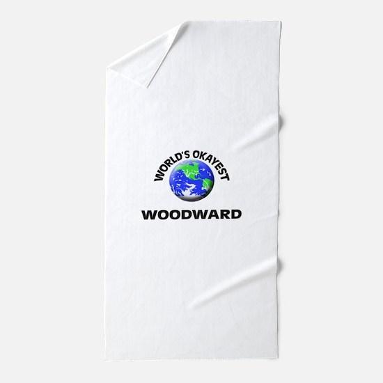World's Okayest Woodward Beach Towel