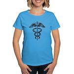 Asclepius Staff - Medical Symbol Women's Dark T-Sh