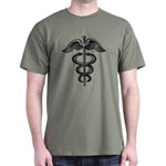 Asclepius Staff - Medical Symbol Dark T-Shirt