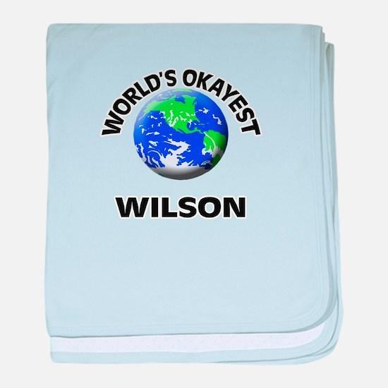 World's Okayest Wilson baby blanket