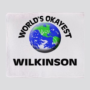 World's Okayest Wilkinson Throw Blanket