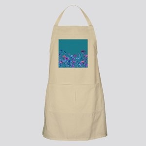 Watercolor blue purple field flowers Light Apron
