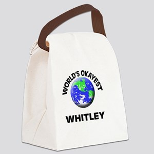 World's Okayest Whitley Canvas Lunch Bag