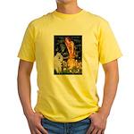 Fairies / Std Poodle(w) Yellow T-Shirt
