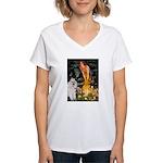 Fairies / Std Poodle(w) Women's V-Neck T-Shirt