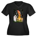 Fairies / Std Poodle(w) Women's Plus Size V-Neck D