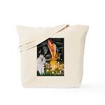 Fairies / Std Poodle(w) Tote Bag