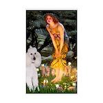 Fairies / Std Poodle(w) Sticker (Rectangle)