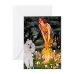 Fairies / Std Poodle(w) Greeting Card