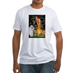 Fairies / Std Poodle(w) Fitted T-Shirt