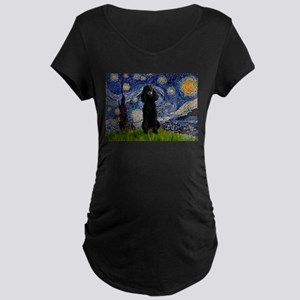 Starry / Std Poodle(bl) Maternity Dark T-Shirt