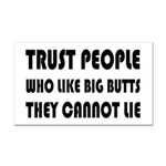 Trust People Who Like Big But Rectangle Car Magnet