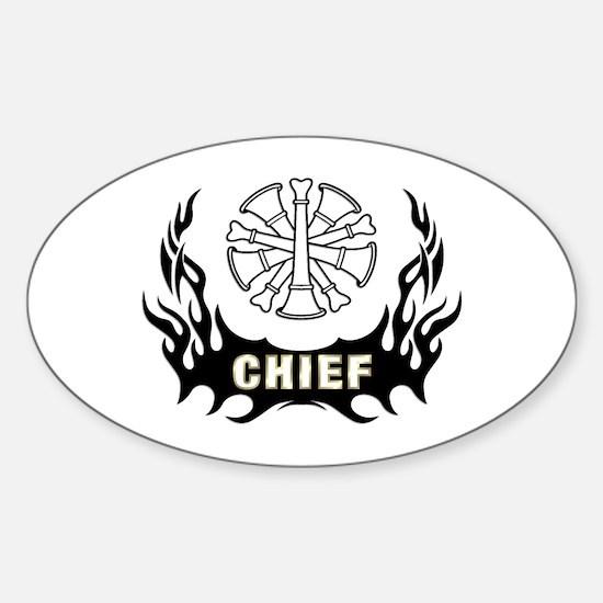 Fire Chief Tattoo Sticker (Oval)
