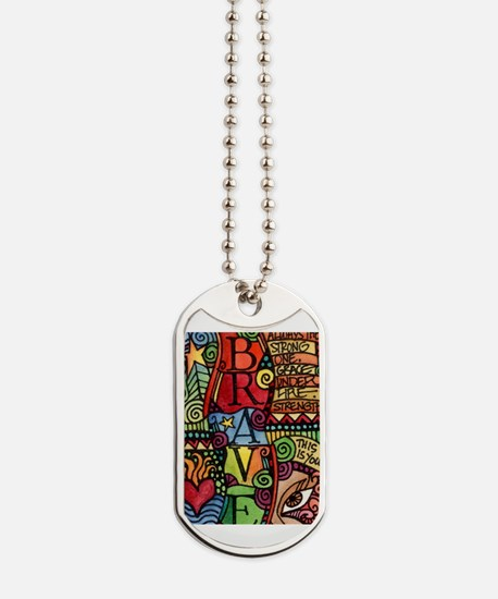 Cool Words Dog Tags