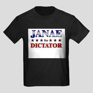JANAE for dictator Kids Dark T-Shirt
