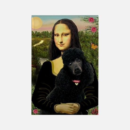 Mona / Std Poodle (bl) Rectangle Magnet