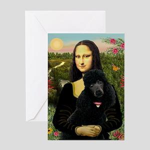 Mona / Std Poodle (bl) Greeting Card