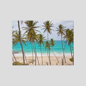 Palm Trees Beach BM 5'x7'Area Rug