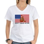 Don't Tread on Me Women's V-Neck T-Shirt
