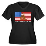 Don't Tread on Me Women's Plus Size V-Neck Dark T-