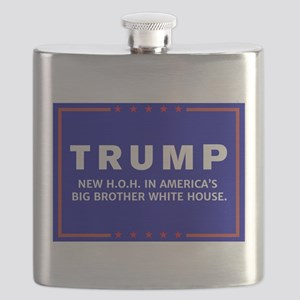 Anti-Trump Big Brother Campaign Logo Collect Flask