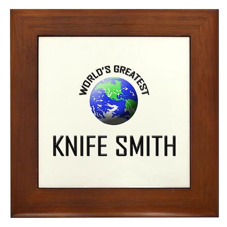 World's Greatest KNIFE SMITH Framed Tile