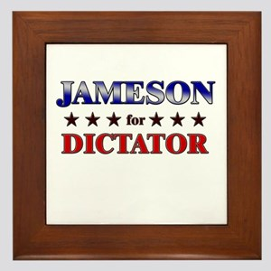 JAMESON for dictator Framed Tile