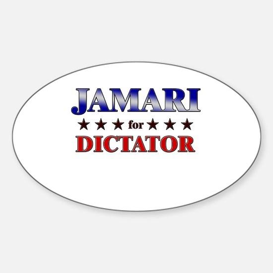 JAMARI for dictator Oval Decal