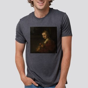 Rembrandt Woman with a Pink T-Shirt