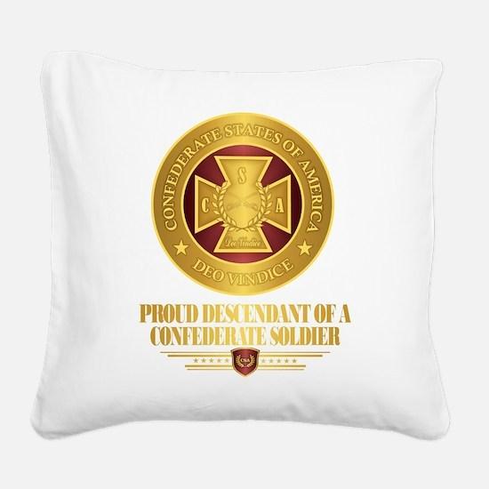 Proud Descendant Square Canvas Pillow