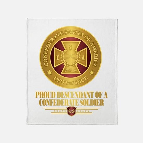 Proud Descendant Throw Blanket