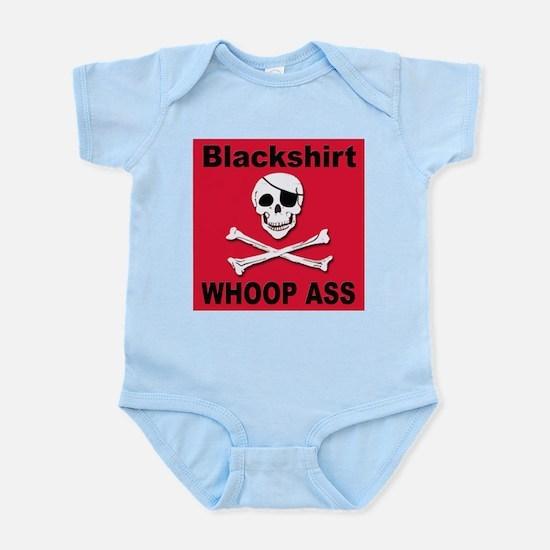Nebraska Blackshirt Whoop Ass Infant Creeper