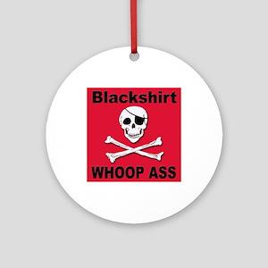 Nebraska Blackshirt Whoop Ass Keepsake (Round)