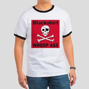 Nebraska Blackshirt Whoop Ass Ringer T