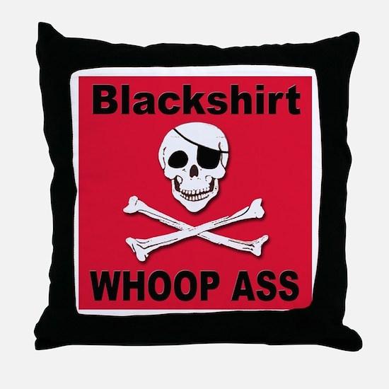 Nebraska Blackshirt Whoop Ass Throw Pillow
