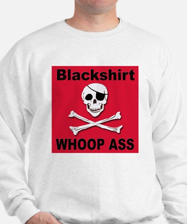 Nebraska Blackshirt Whoop Ass Sweatshirt