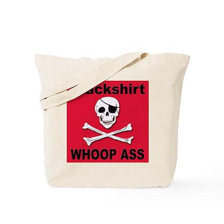 Nebraska Blackshirt Whoop Ass Tote Bag