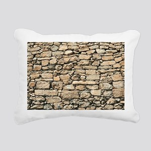 Stone Wall BM Rectangular Canvas Pillow