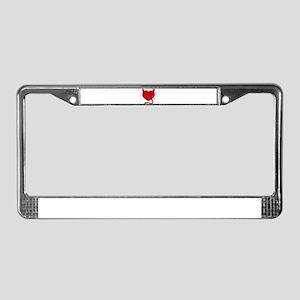 Devil Heart License Plate Frame