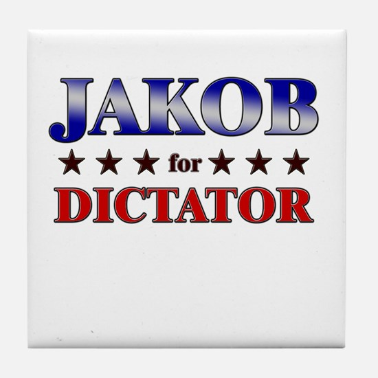 JAKOB for dictator Tile Coaster