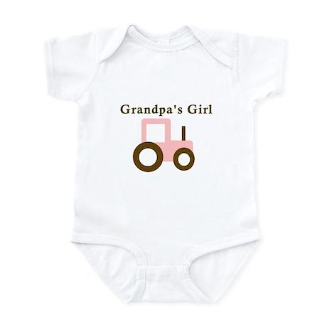 Grandpa's Girl - Pink Tractor Infant Bodysuit