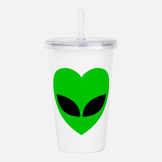 Alien Love Heart Acrylic Double-wall Tumbler