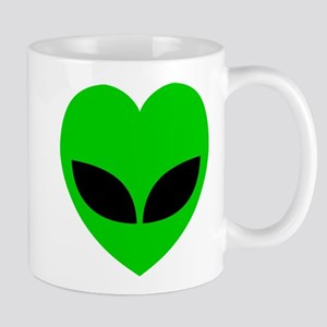 Alien Love Heart Mugs
