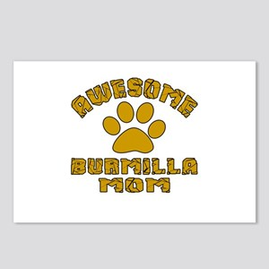 Awesome Burmilla Mom Desi Postcards (Package of 8)